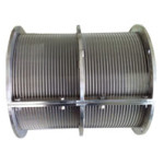 Counter roll wedge wire screen