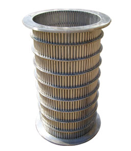 Squeezing machine wedge wire filter